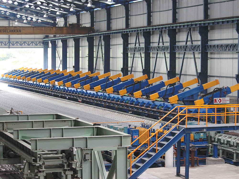 Cooling bed hot rolling mill steel bar machinery engineering Италия