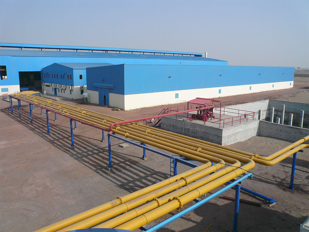 Auxiliary systems water treatment hot rolling mill plant