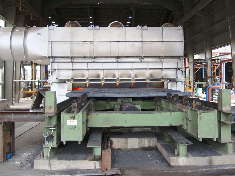 Billet re heating furnace hot rolling mill section