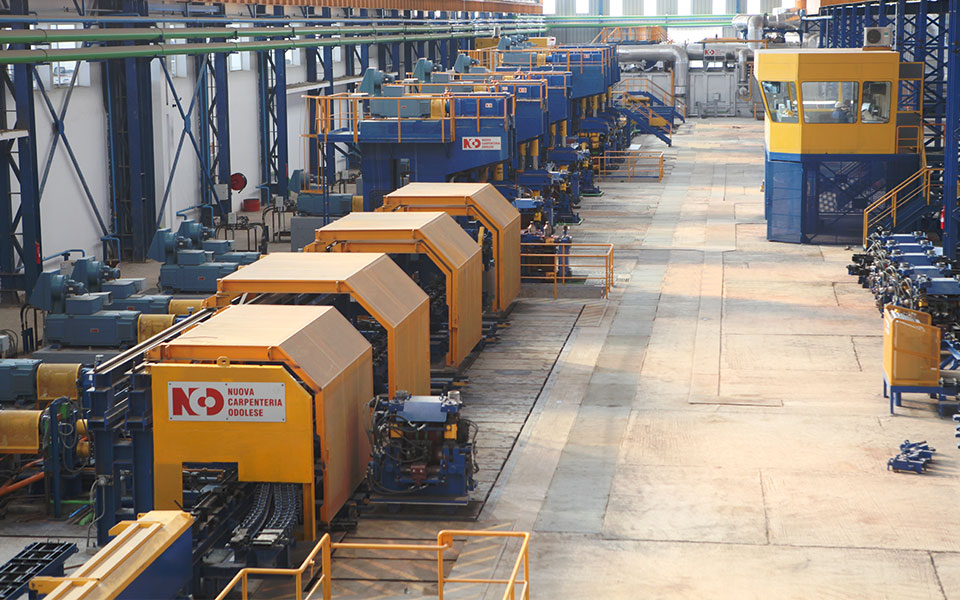 Complete hot rolling mill steel long products